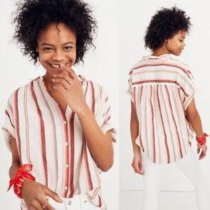 Madewell | Central Shirt in Albee Stripe Small